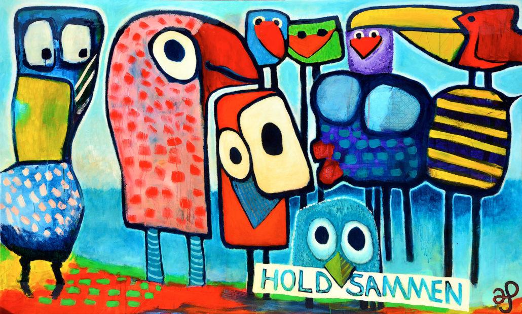 Maleri af Anders Schrøder - »Hold sammen«